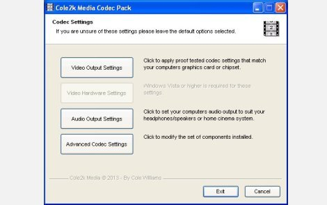 Cole2k Media - Codec Pack V8.0.4 Advanced
